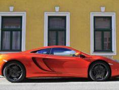 The MP4 12C from British sports car manufacturer McLaren is seen in Vienna on April 13, 2013. Its 3,8L V8 twin turbo engine develops around 600hp and the retail price lies at 200,000 Euros in continental Europe.  AFP PHOTO / ALEXANDER KLEIN        (Photo credit should read ALEXANDER KLEIN/AFP/Getty Images)