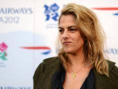 LONDON, ENGLAND - APRIL 03:  Mentor Tracey Emin attends the official launch of Flight BA2012 at Flight BA2012 pop-up restaurant, cinema and gallery space on April 3, 2012 in London, England.  As official airline partner of the 2012 London Olympics, British Airways has launched its London 2012 inspired menu, short-film and aircraft, available to customers from April onwards. The content is produced by BA Great Britons who were mentored by Heston Blumenthal, Richard E Grant and Tracey Emin. For more visit: facebook.com/britishairways  (Photo by Samir Hussein/Getty Images For British Airways)