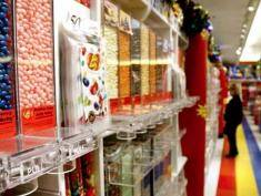 Jelly beans sit for sale at the Jelly Belly Candy Co. store next to the company's manufacturing facility in Fairfield, California, U.S., on Tuesday, Dec. 14, 2010. Manufacturers in the U.S. are more optimistic about sales next year and plan to ramp up spending on new equipment, signaling factories will keep leading the economic recovery, according to a survey by the Institute for Supply Management. Photographer: Ken James/Bloomberg via Getty Images