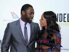 "Idris Elba i Naomie Harris podczas premiery filmu ""Mandela: Long Walk To Freedom"" w Nowym Jorku. Fot. Getty"