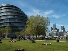 "LONDON, UNITED KINGDOM - MAY 05: City Hall, the headquaters of the Mayor of London and the London Assembly on the southbank of the River Thames as Londoners vote for a new Mayor on May 5, 2016 in London, United Kingdom. Today,dubbed ""Super Thursday"",sees the British public vote in countrywide elections to choose members for the Scottish Parliament, the Welsh Assembly, the Northern Ireland Assembly, Local Councils, a new London Mayor and Police and Crime Commissioners. There are around 45 million registered voters in the UK and polling stations open from 7am until 10pm.  (Photo by Chris Ratcliffe/Getty Images)"