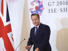 ISE, JAPAN - MAY 27:  British Prime Minister David Cameron speaks to the media during a press conference on May 27, 2016 in Ise, Japan. In the two-day summit, the G7 leaders are scheduled to discuss the pressing global issues including counter-terrorism, energy policy, and sustainable development.  (Photo by Chung Sung-Jun/Getty Images)