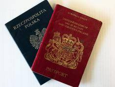 "CREWE, UNITED KINGDOM - APRIL 01:  In this photo illustration the cover of a Polish passport is shown next to a UK passport on 1 April, 2008, Crewe, England. Crewe in Cheshire has one of Britain's biggest communities of Poles in the UK and is continuing to thrive. British Prime Minister Gordon Brown today dismissed suggestions that immigration into the United Kingdom should be capped and said that immigration is good for the country. Brown responded to a report by a House of Lords committee that record immigration had ""little or no"" impact on people's economic well-being.  (Photo illustration by Christopher Furlong/Getty Images)"