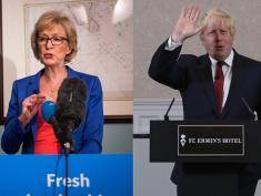 LONDON, ENGLAND - JULY 04:  Andrea Leadsom, Member of Parliament for South Northamptonshire and Minister of State at Department of Energy and Climate Change, launches her bid to be the Leader of the Conservative Party at The Cinnamon Club in Westminster on July 4, 2016 in London, England.  Mrs Leadsom has formally launched her campaign to become the next leader of the Conservative Party. David Cameron, current Prime Minsiter and leader of the party, announced his resignation the day after the United Kingdom voted to leave the European Union, triggering the leadership contest.  (Photo by Rob Stothard/Getty Images)
