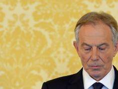 """Former Prime Minister Tony Blair speaks during a news conference in London on July 6, 2016, following the outcome of the Iraq Inquiry report. Former British prime minister Tony Blair voiced """"sorrow, regret and apology"""" after a damning report on the Iraq war Wednesday, but said he did not mislead parliament and did not regret toppling Saddam Hussein. Blair made his comments at a press conference in London after publication of the long-awaited Chilcot report into Britain's role in the 2003 US-led invasion of Iraq sharply criticised him. / AFP / POOL / STEFAN ROUSSEAU        (Photo credit should read STEFAN ROUSSEAU/AFP/Getty Images)"""