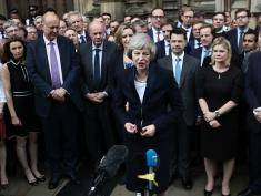 British Home Secretary Theresa May on July 11, 2016 in London, England. Theresa May will become the UK's new Prime Minister on Wednesday evening after David Cameron holds his final PMQs and visits the Queen to officially resign his position.