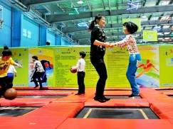 China's largest trampoline theme park in Shanghai.